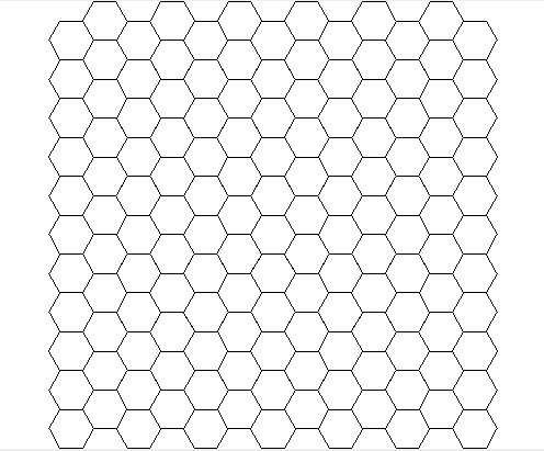 Grid on circle and square pattern